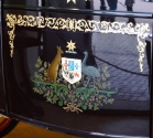 On the Australian Coach, a kangaroo and emu have been hand painted.
