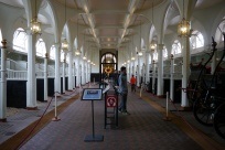 This the stable area, though there were no horses inside on this day. The Queen personally selects the name of each horse. Many are named for cities or countries in the Commonwealth.