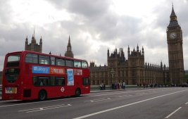 Doesn't get more London than this... red double-decker buses and Big Ben.