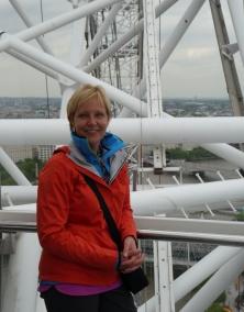 Shellie atop the London Eye.