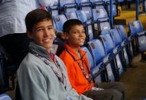 Nathan and Aidan eagerly awaiting tour.