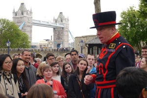 Bob did a brilliant job of explaining the history of the Tower of London.