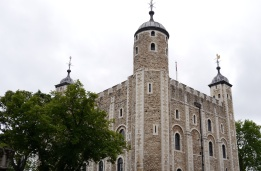 The White Tower at the Tower of London, once the home of English kings and queens.