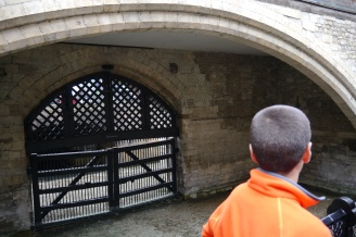 Aidan looks at Traitors Gate.