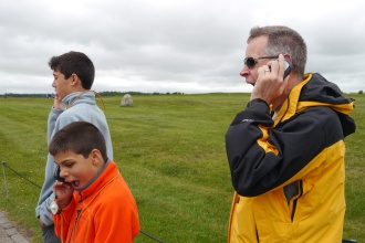 OK, this was funny. No one was bored by Stonehenge, but I caught Aidan and Steve yawning at the same moment.
