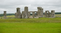 There are small mounds around Stonehenge where human remains have been found.