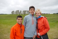 Aidan, Nathan, and Shellie at Stonehenge.
