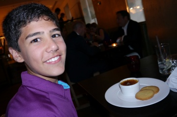 Nathan and his creme brulee