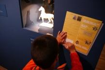 Aidan works to complete his Kids' Treasure Hunt.