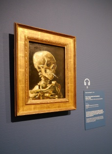 Van Gogh had a sense of humor. While doing this painting of a skeleton at the Academy, he added a cigarette to get a rise out of his teachers.