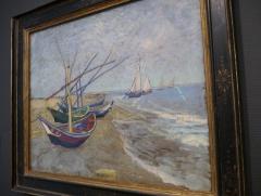 Fishing Boats on the Beach at Saintes-Maries.