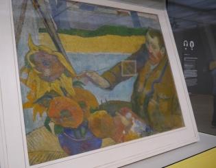 Van Gogh painting Sunflowers by Paul Gaugin.