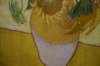 Van Gogh's signature on Sunflowers.