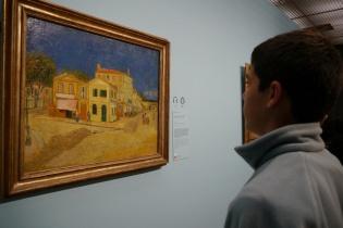 Nathan admires Yellow House.