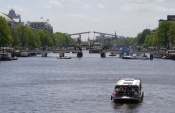 Amstel Canal on a Saturday afternoon.