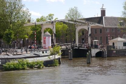 Draw bridge along the Amstel Canal.