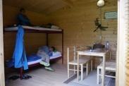 Inside cabin at Stadspark Campground