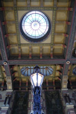 The train stations - even in smaller towns - are really ornate in Europe.
