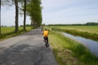 Biking through the Dutch countryside