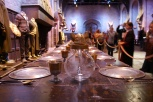 The tables are set in the Great Hall.