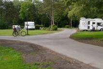 Biking together at campground