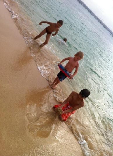 Aidan befriends a few South African boys.