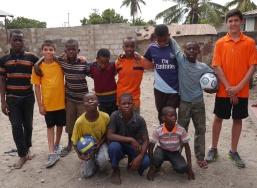Aidan, Nathan, and younger boys at FASDO