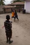 Aidan tries to steal the ball.