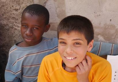This boy befriended Aidan.