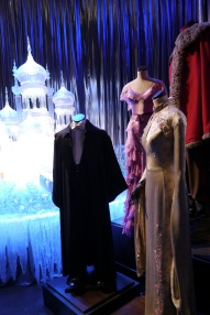 """Costumes and """"ice"""" sculpture from the Yule Ball."""