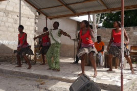 Teens perform traditional African dances and music for us.