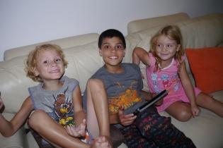 Our hosts' grandchildren: Alessandro and Daniella