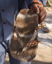 Sandals made from hides
