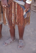 You can tell that this Datoga woman is married because she has an underskirt that she never takes off.