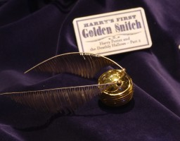 The Golden Snitch from Harry's first quidditch match.