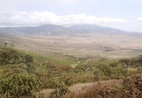 Ngorongoro Valley on the way to the Serengeti