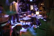 Inside Hagrid's hut.