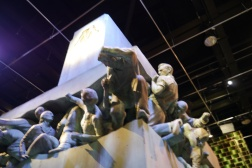 Magic is Might statue at the Ministry of Magic.
