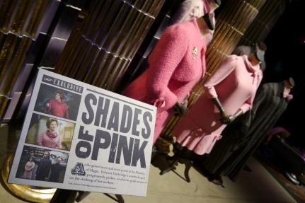 Dolores Umbridge's very pink wardrobe.