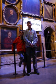 Aidan and Nathan in the portrait gallery.
