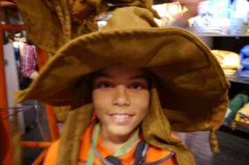 """Aidan gets """"sorted"""" in the gift shop."""