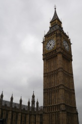 Big Ben on a gray, overcast London day. This was our first sight emerging from the Tube on Day 4.