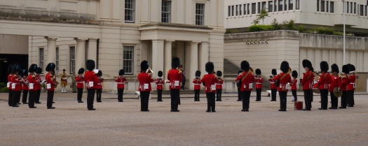 The band plays at Wellington Barracks before heading to Buckingham Palace. At the Palace, they played Stevie Wonder and Happy Birthday to Prince Phillip!