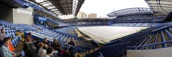 Stamford Bridge, home of Chelsea FC.