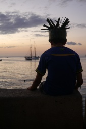 Aidan takes in the sunset