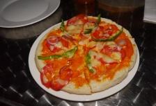 Zanzibar pizza... not our favorite. In fact, the food in Zanzibar wasn't all that great.