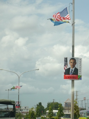 These banners lined the streets for miles.