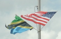 Tanzanian and American flags lined the streets.
