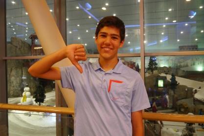 Nathan gives Ski Dubai a thumbs down.