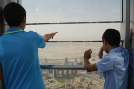 They thought of everything. Here you see the opening on the observation deck for picture taking.